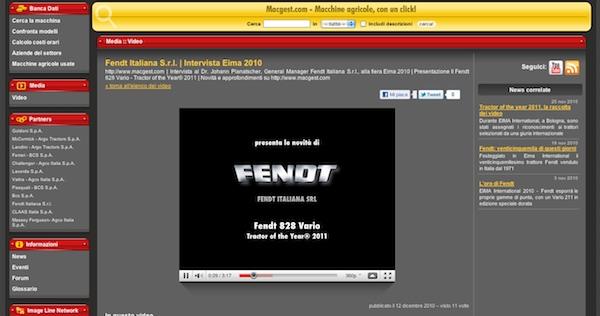 Video dedicato al trattore Fendt Vario 828 SCR - su Youtube e su Macgest